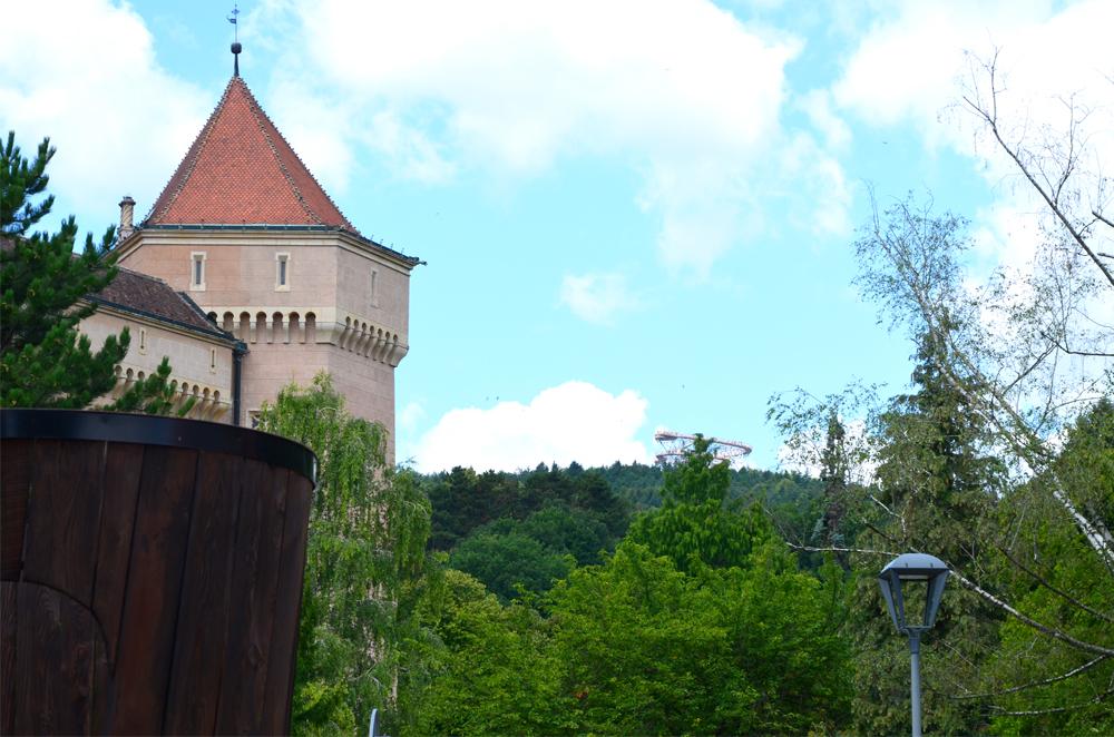 Veža v Bojniciach - pohľad z mesta