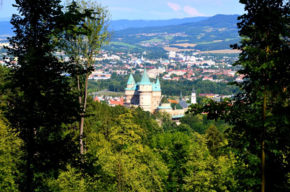 Vyhliadka v Bojniciach - výhľad