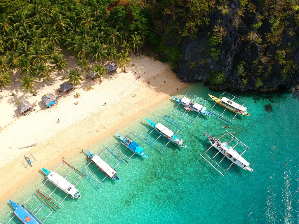 Palawan - drone - beach