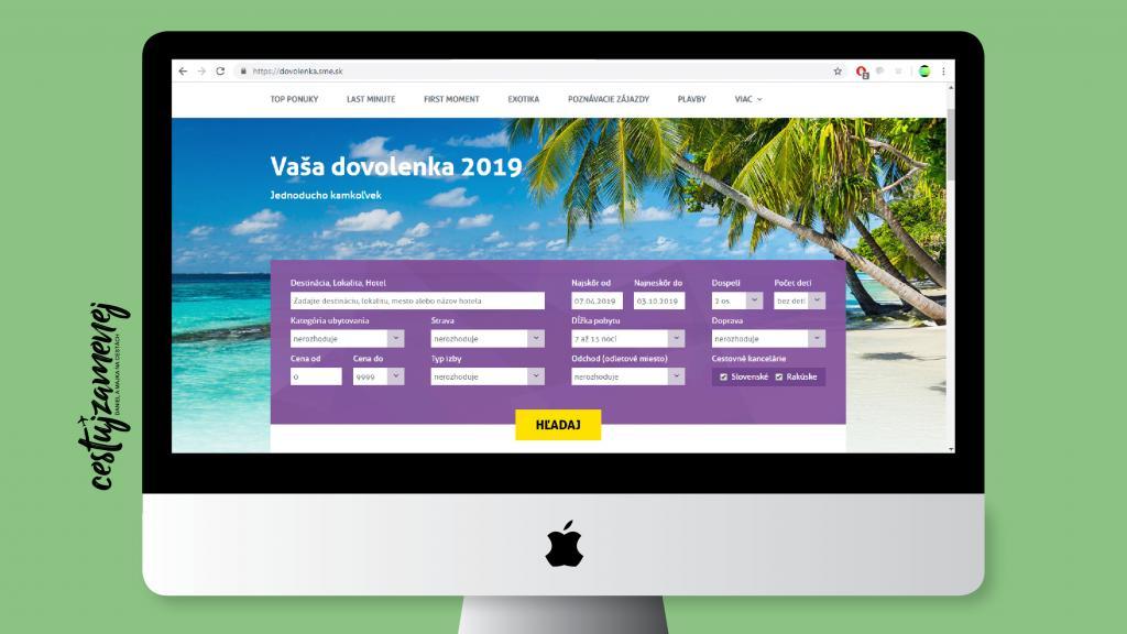 Letná dovolenka - vyhľadávač