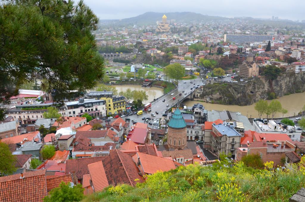 Gruzínsko - Tbilisi - Výhľad zhora