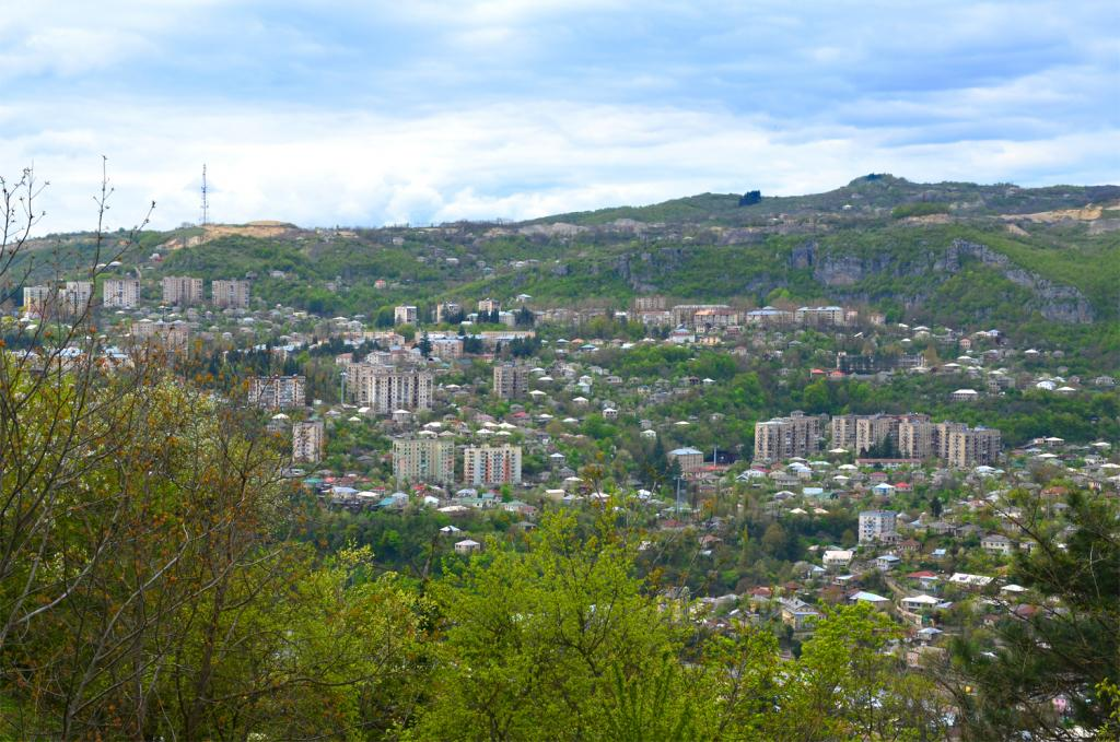 Pohľad na mesto Čiatura zhora