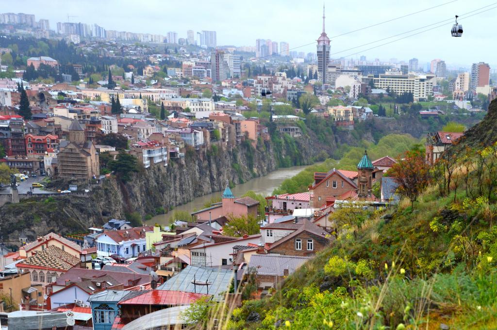 Gruzínsko - Tbilis - Tento výhľad neomrzí