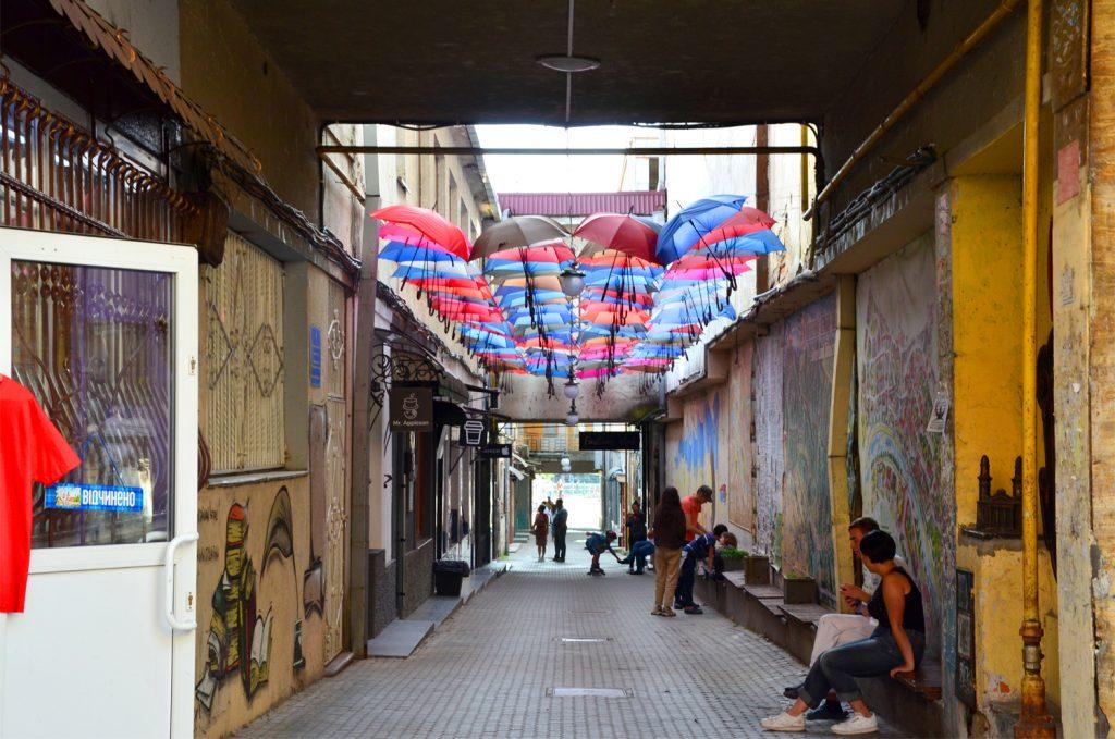 Užhorod - Všade samé dáždniky