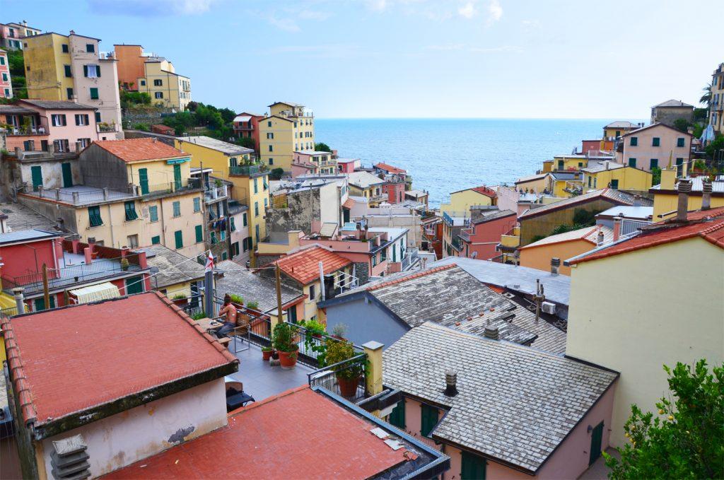 Cinque Terre - Riomaggiore - pohľad zhora