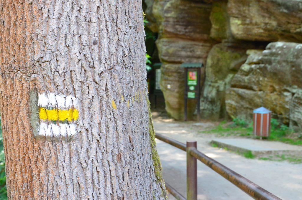 České Švajčiarsko - Treba sledovať žltú značku