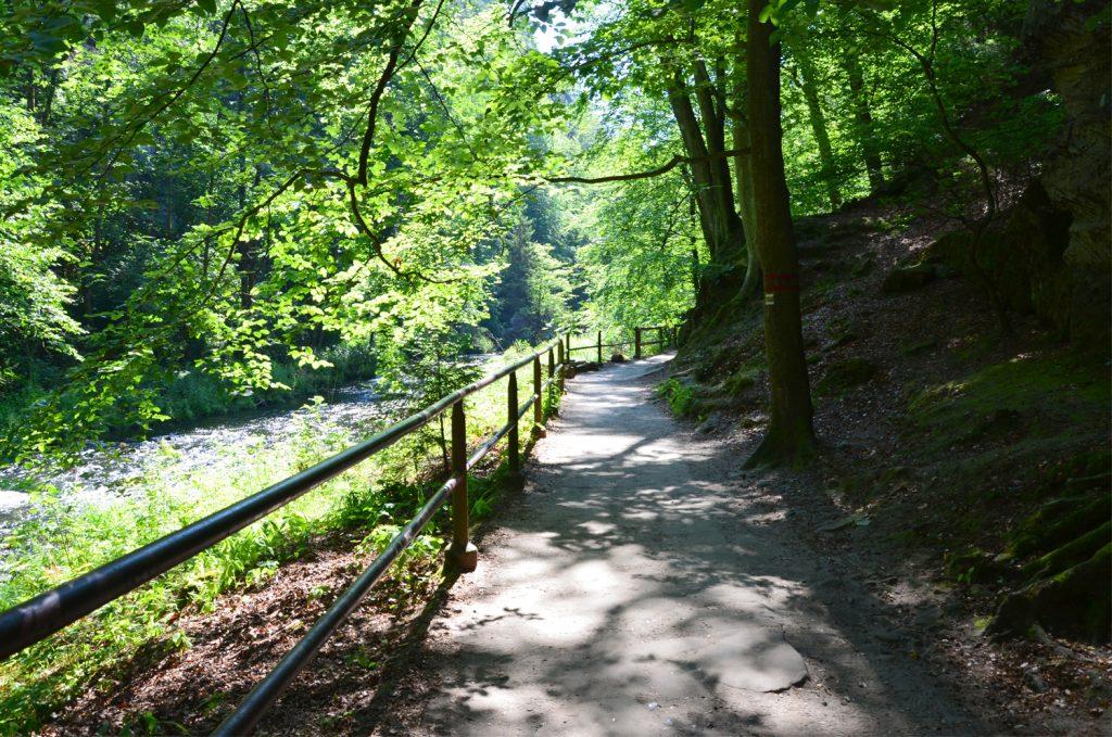Prechádzka vedie cez malebnú prírodu národného parku