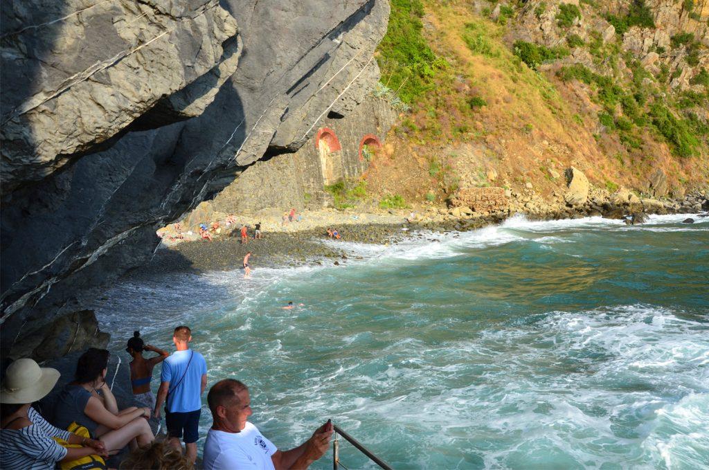 Riomaggiore - pláž