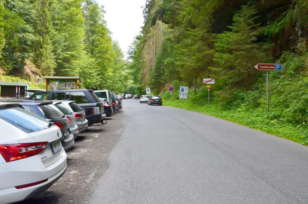 Hřensko - parkovisko
