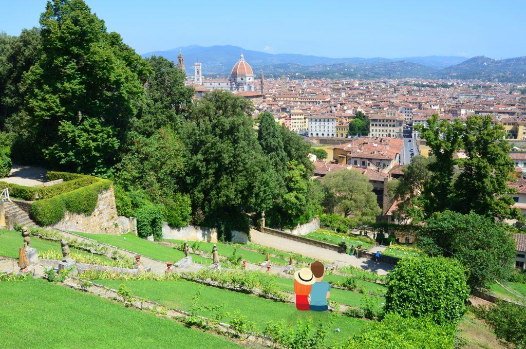 Florencia - Giardino Bardini - Vychutnávame si výhľad na mesto