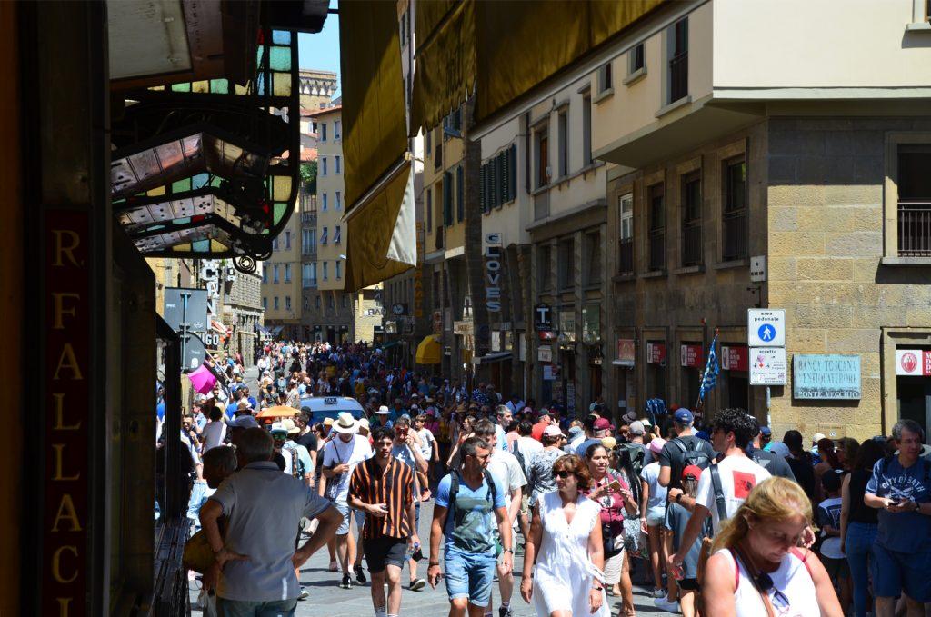 Florencia - Ponte Vecchio - trošku plno