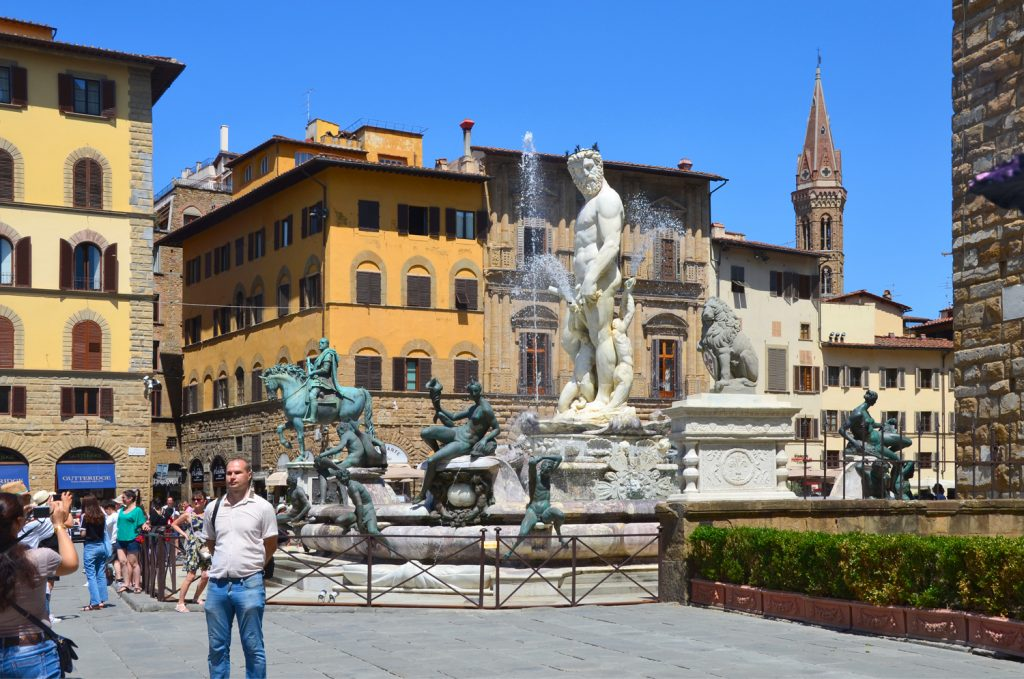 Florencia - Neptunova fontána