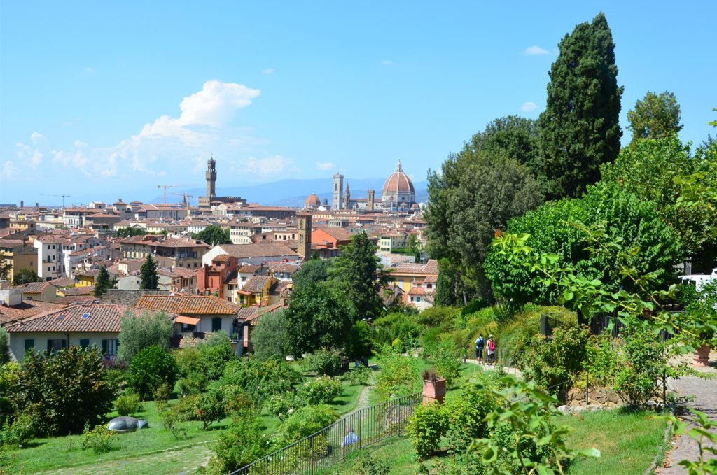 Florencia - Giardino delle Rose - výhľad na mesto