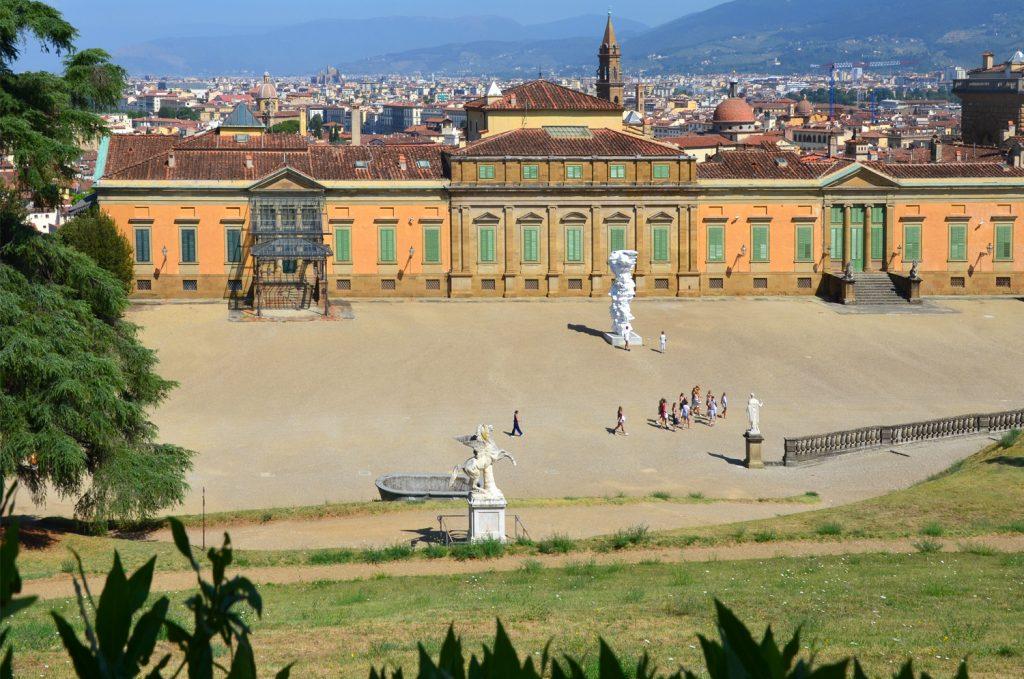 Florencia - Palazzo Pitti zo záhrad Boboli