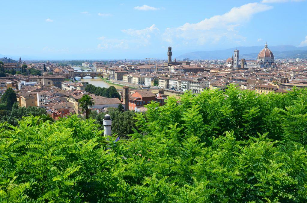 Výhľad na mesto z Piazzale Michelangelo