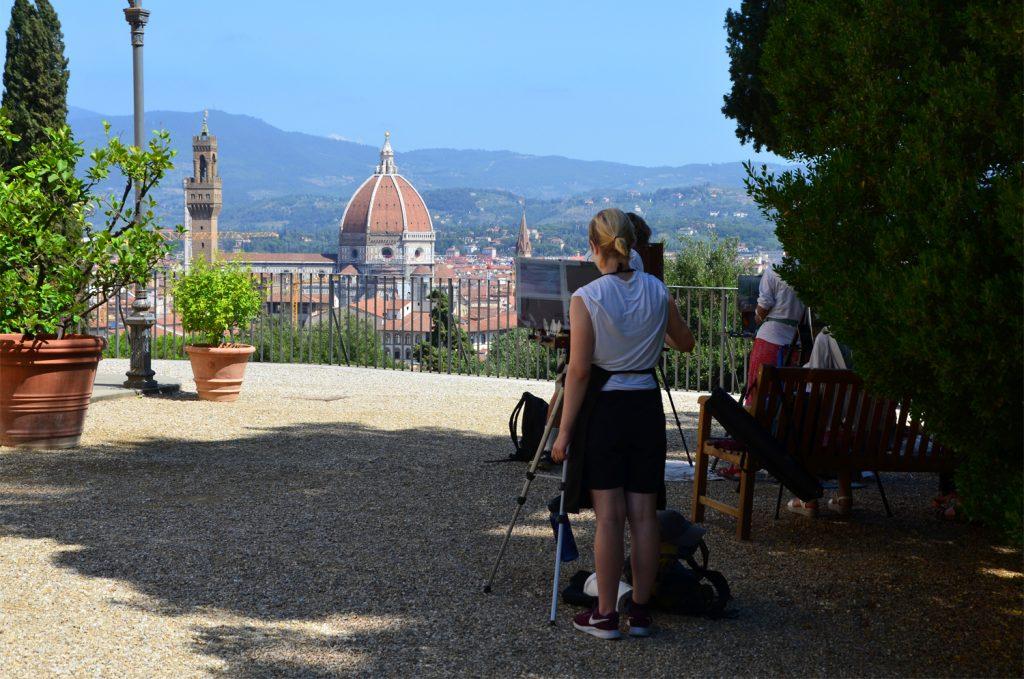 Florencia - Giardino Bardini - Čo to tam maľujete?