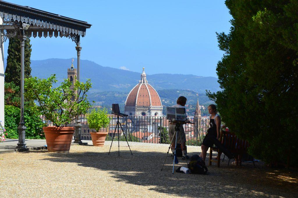 Florencia - Giardino Bardini - Pohľad na Duomo