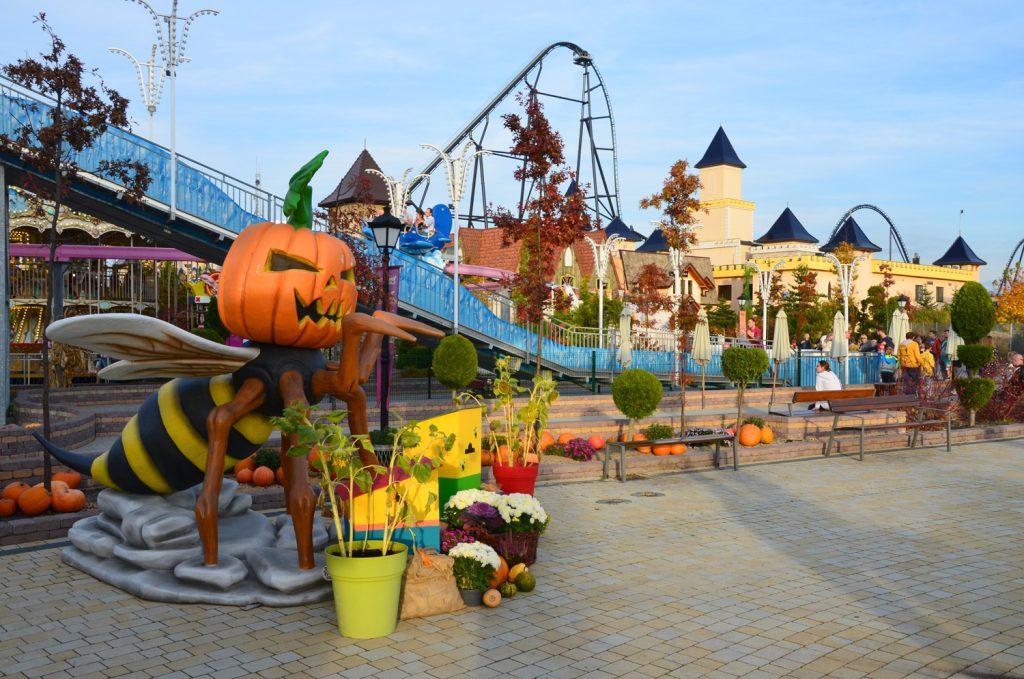 Halloween v zábavnom parku