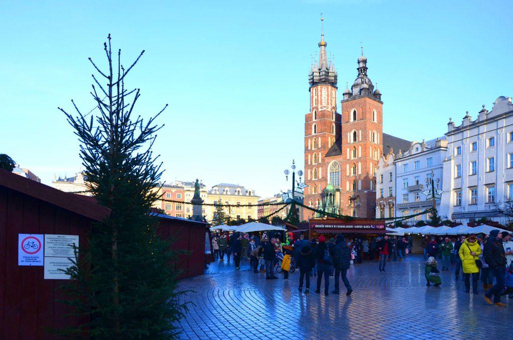 Krakov - Rynek Glowny - Vianočné trhy