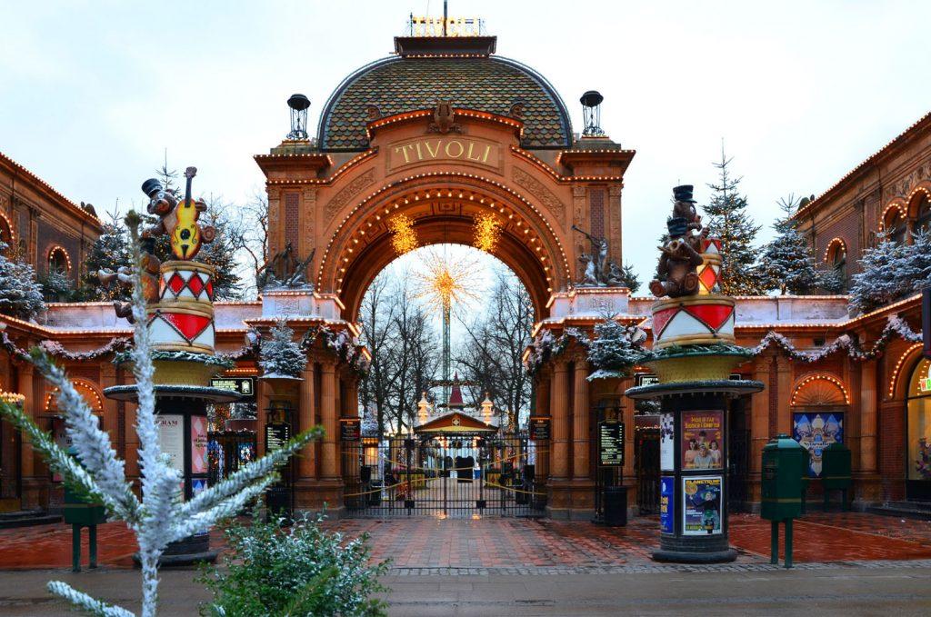 Najkrajšie vianočné trhy v Európe- Kodaň - Vianočné trhy v parku Tivoli