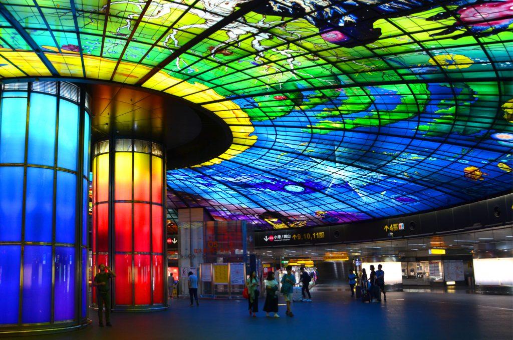 Taiwan: Čo vidieť? Stanica metra Formosa Boulevard