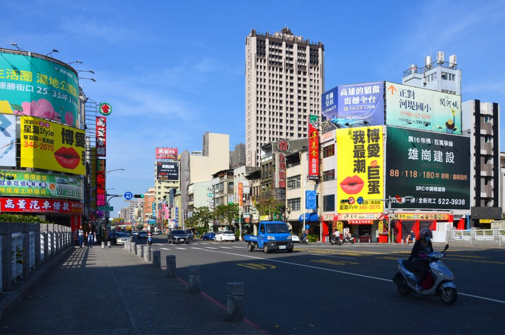 Taiwan - doprava v meste Kaohsiung