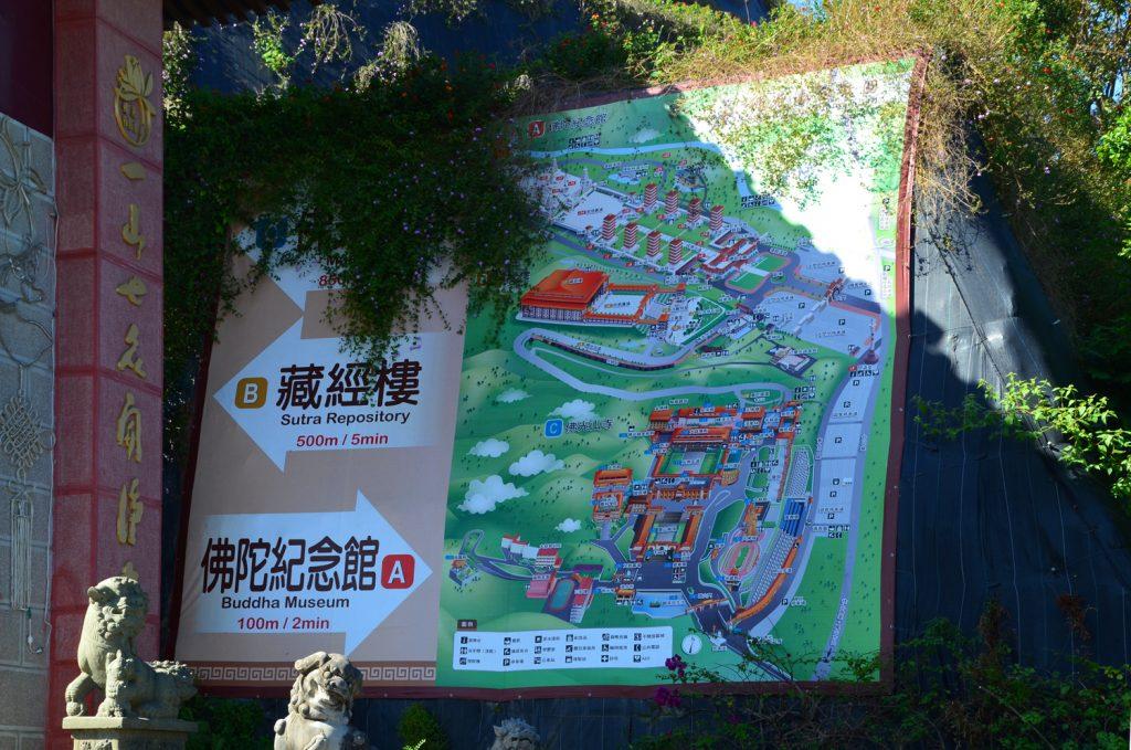 Mapa areálu Fo Guang Shan