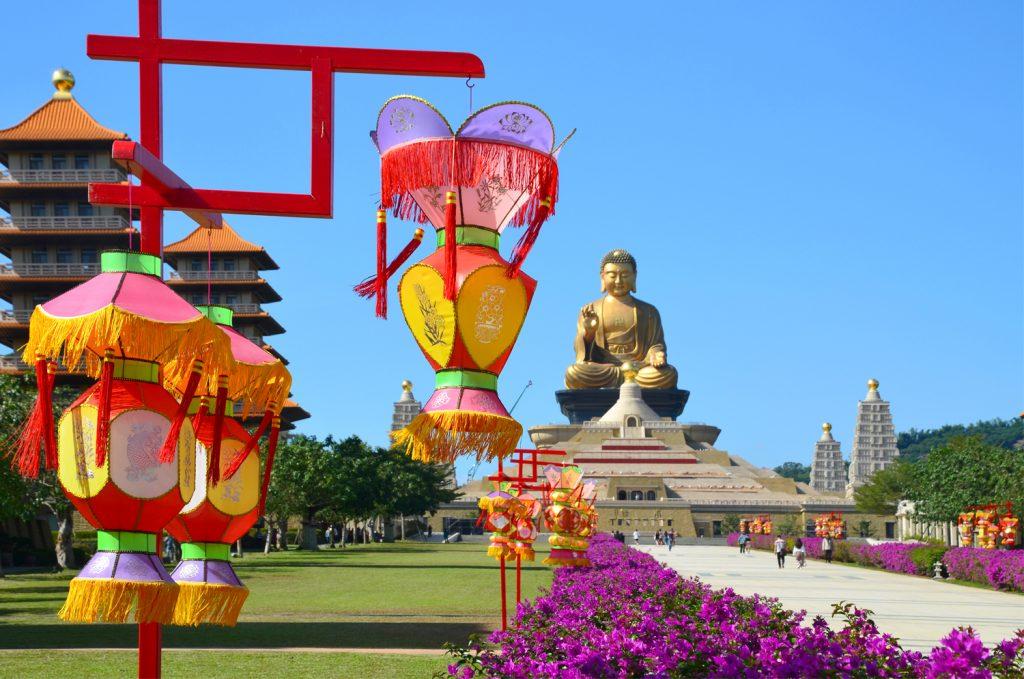 Fo Guang Shan - Budha v pozadí