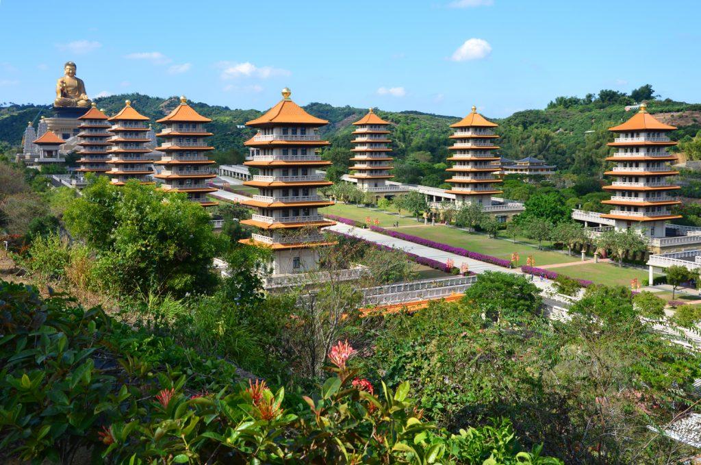 Taiwan: Čo vidieť? Fo Guang Shan - Pagody