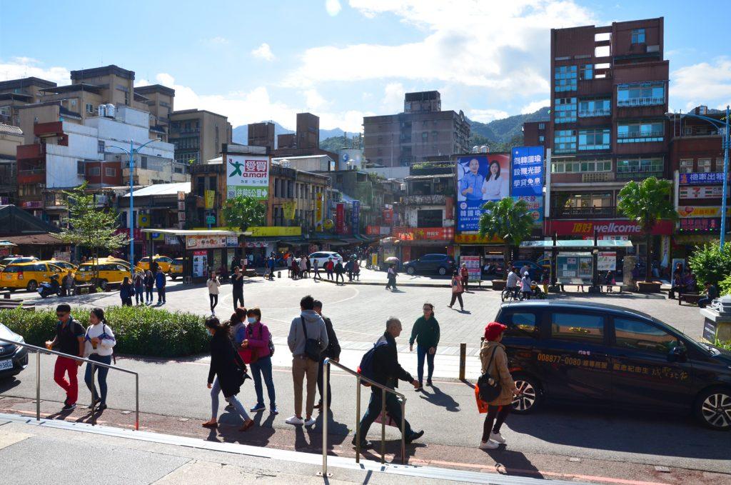 Námestie pred železničnou stanicou v meste Ruifang