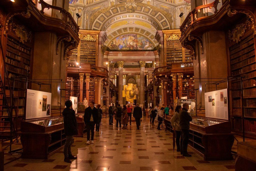 Najkrajšie knižnice: Rakúska národná knižnica / Zdroj: Pixabay