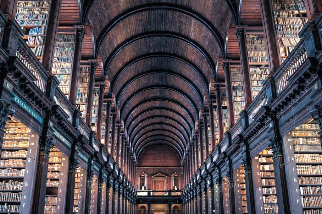 Najkrajšie knižnice: Library of Trinity College Dublin / Zdroj: Pixabay