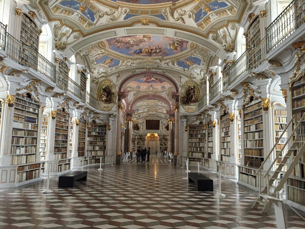 Najkrajšie knižnice: Knižnica kláštora Admont / Zdroj: Pixabay