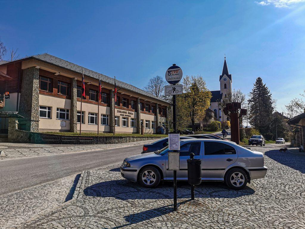 Výlet som začal na parkovisku v Starej Bystrici