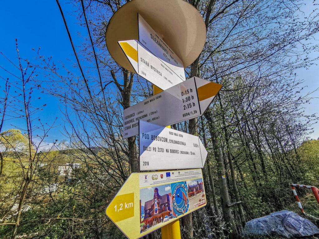 Rozhľadňa na vrchu Bobovec: Rozcestník