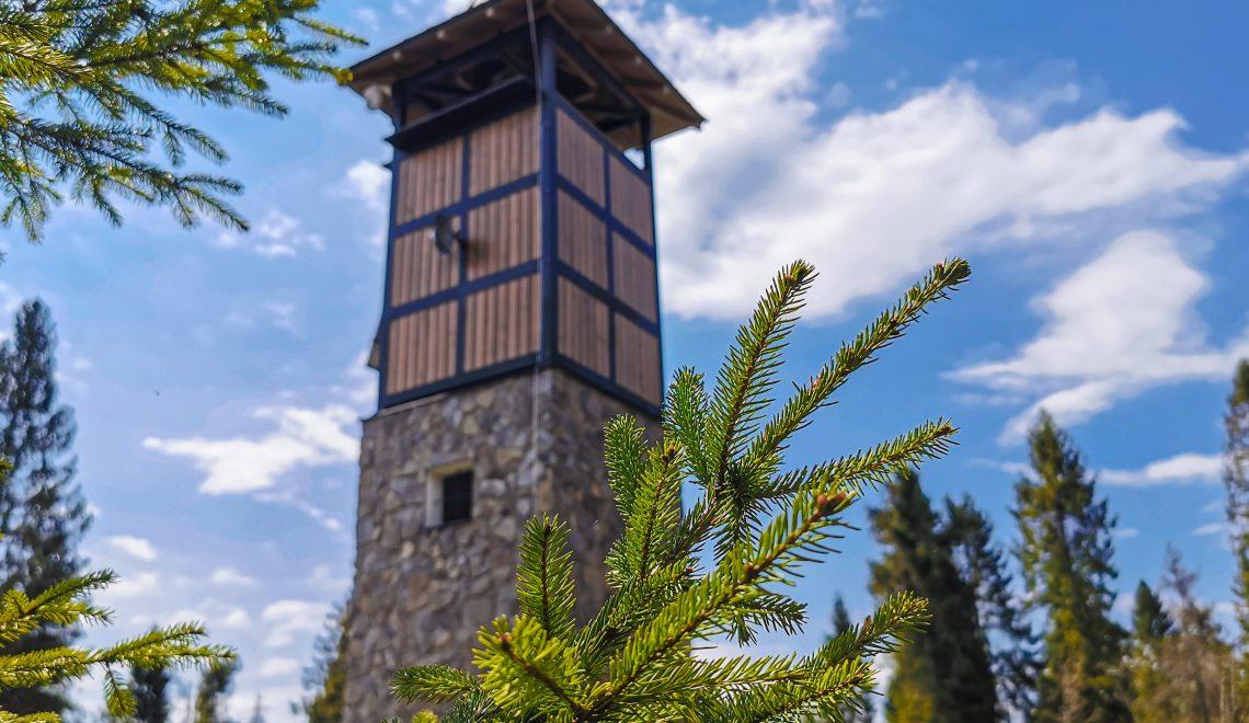 Zborov nad Bystricou - Rozhľadňa na Hladkom vrchu