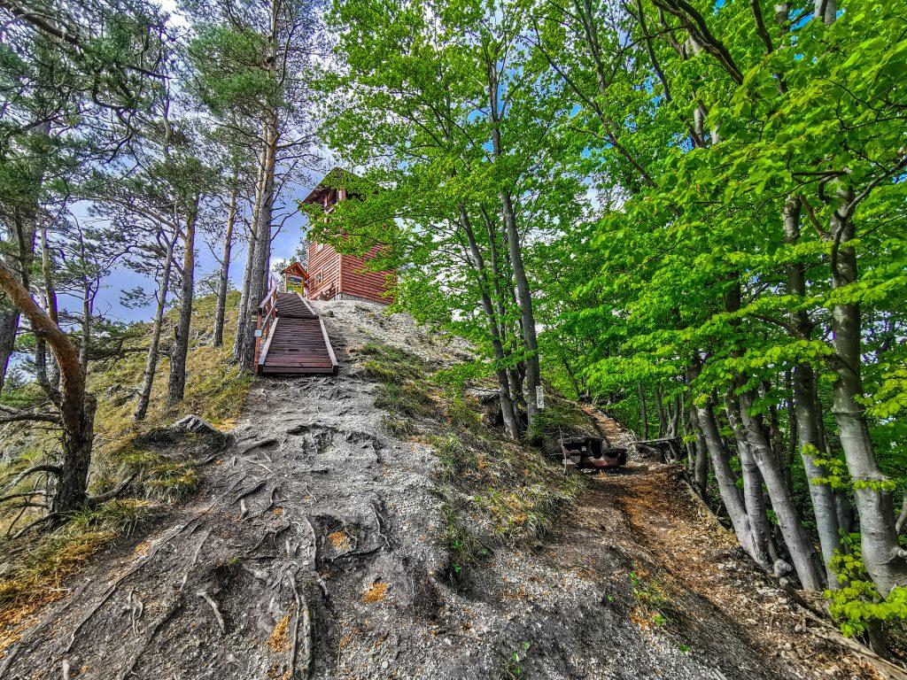 Rozhľadňa Špicák - posledných pár metrov