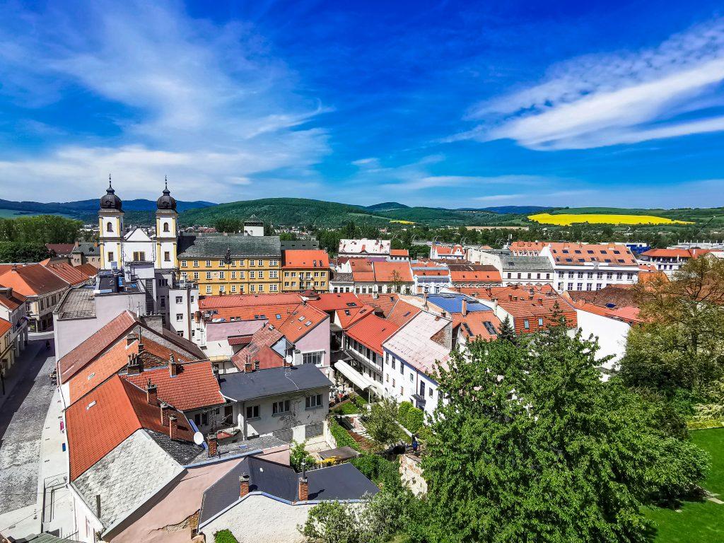 Trenčín - výhľad na mesto