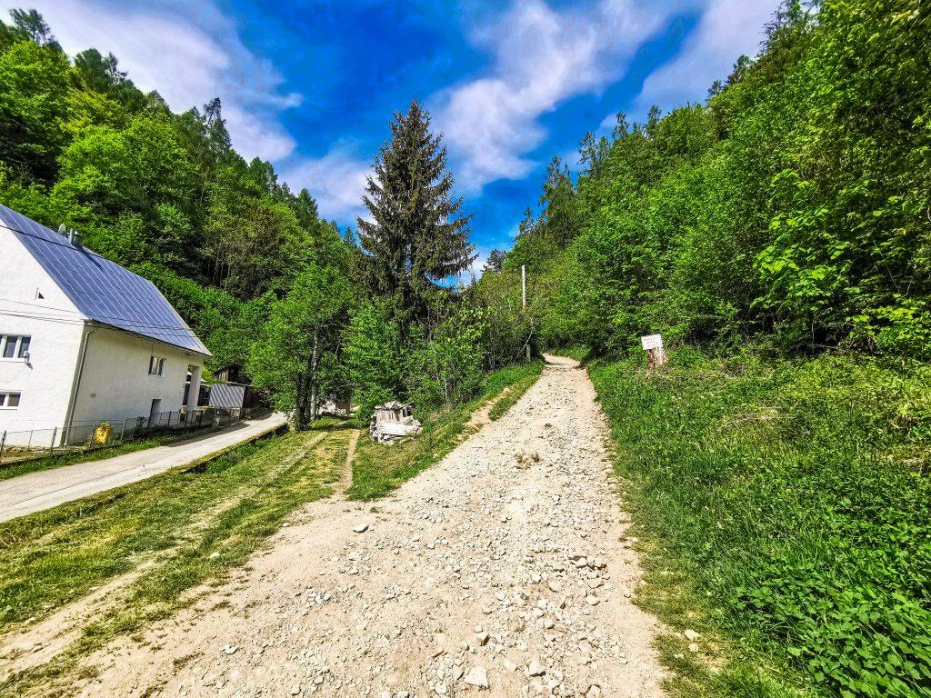 Cesta vedie hore kopcom