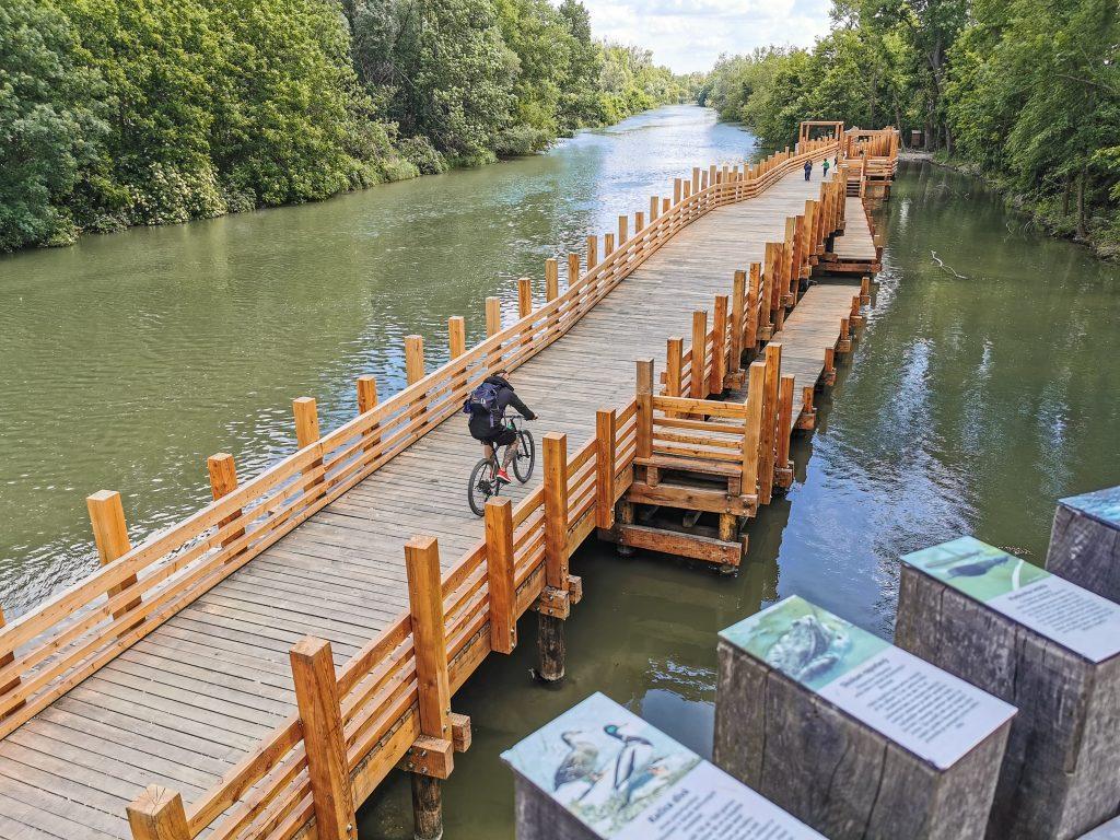 Korzo Zálesie - Promenáda na Malom Dunaji je populárna aj u cyklistov