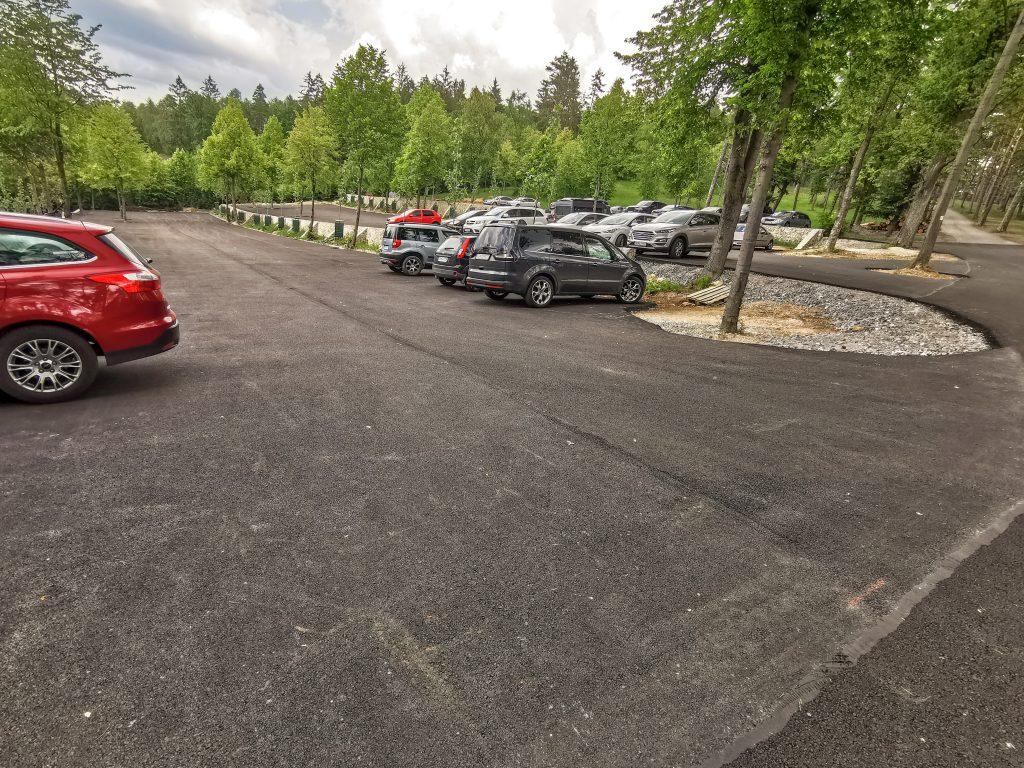 Vyhliadka Čajka v oblakoch Bojnice - Parkovanie