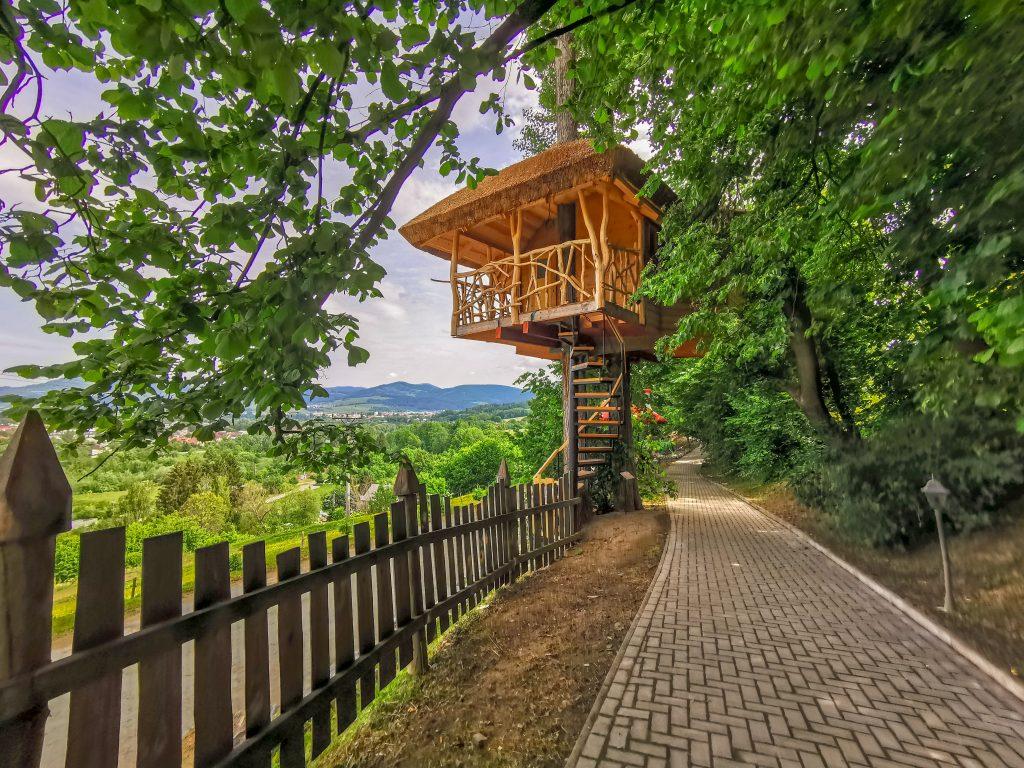 Koliba Panoráma - Rozprávkový les: Ubytovanie v dome na strome