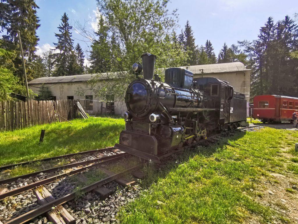 Vozový park pozostáva z exponátov v podobe parných rušňov a prepravných vozňov
