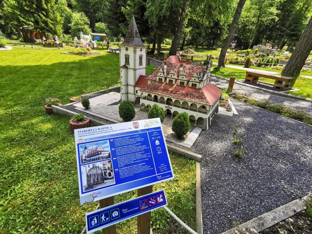 Park MINI Slovensko - Starobylá radnica v Levoči