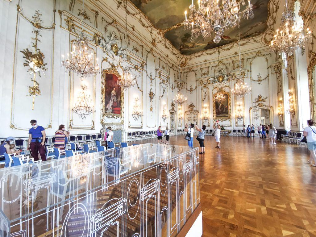 Arcibiskupský zámok Kroměříž - interiér jedine miestnosti, kde sa smie fotiť