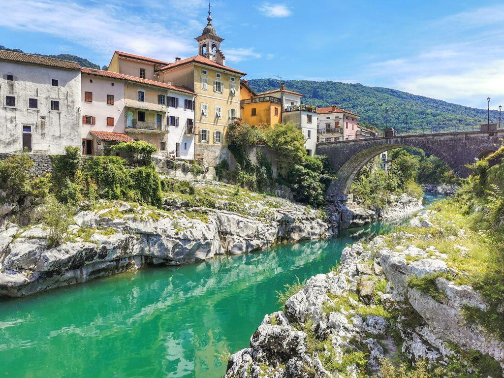 Kanal ob Soči - Pohľad na most