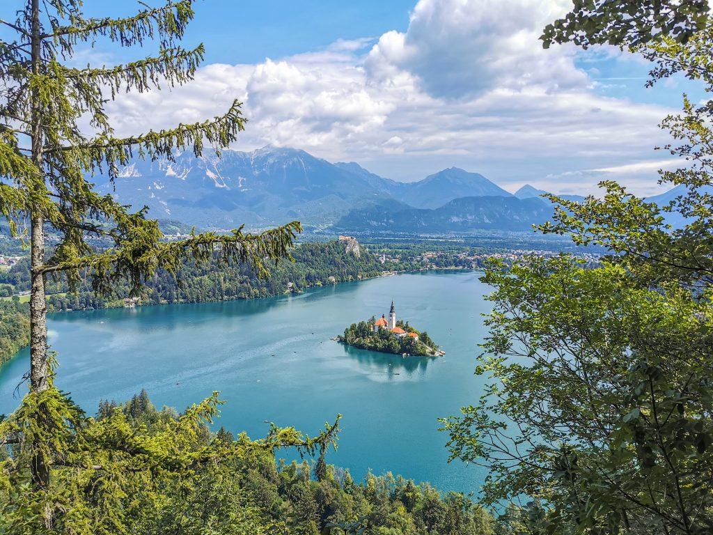 Mala Osojnica - Výhľad na Jazero Bled