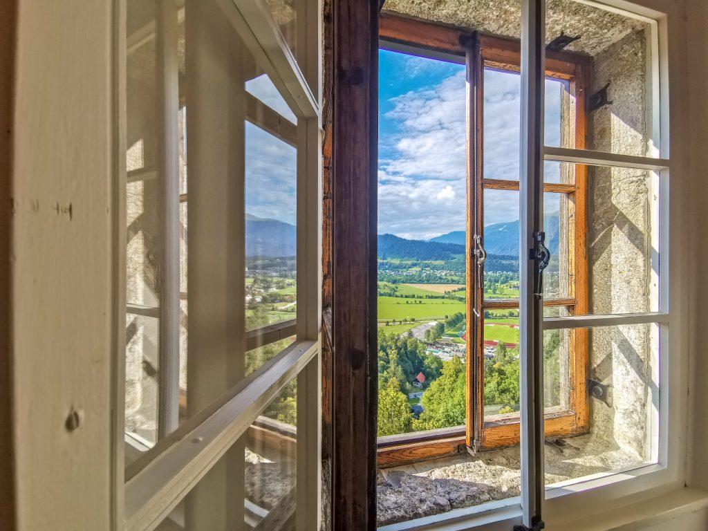 Hrad Bled - Výhľady z okna