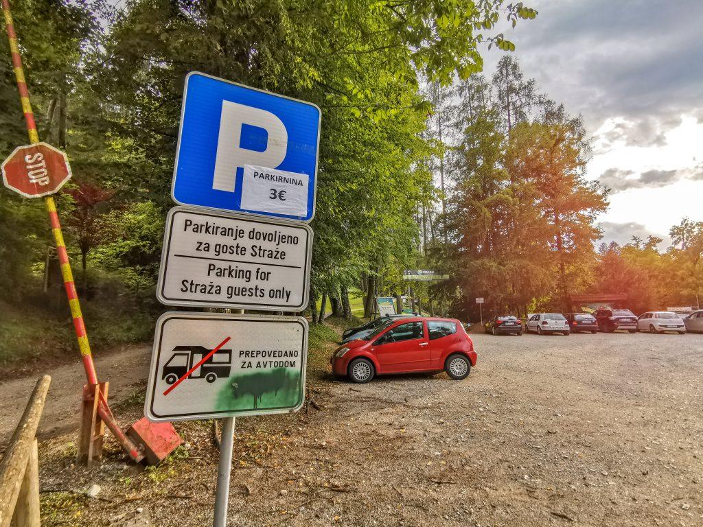 Straža Bled - Parkovisko za 3€ na deň
