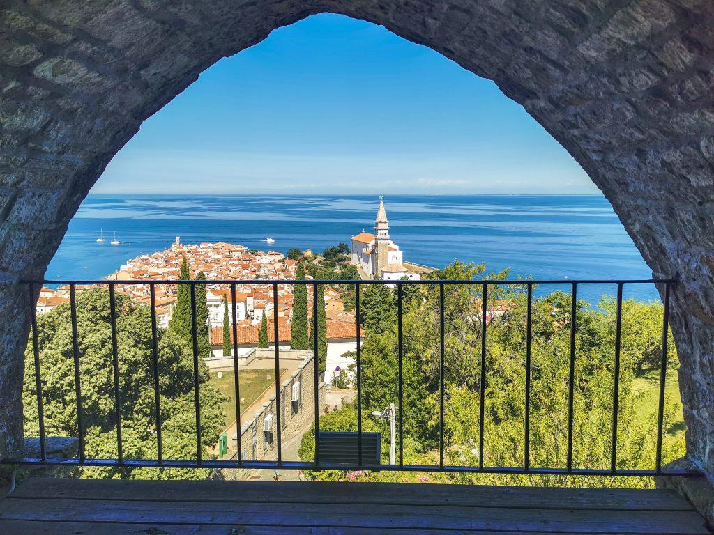 Piran - Výhľad na mesto